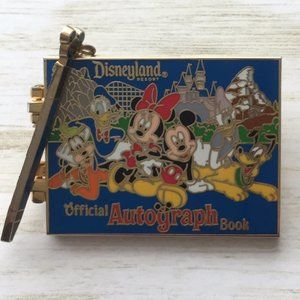 Disney Parks Blue Autograph Book Hinged Pin Mickey